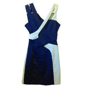 ASOS Navy Blue Mint Green Cutout Strappy Dress 4